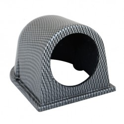 Porta strumento 1x ø52mm carbon look orizzontale - SIM-PSR1C
