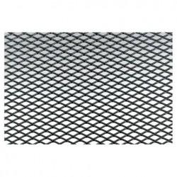 Griglia a maglia stretta alluminio nero 125x20cm - SIM-GSA/1